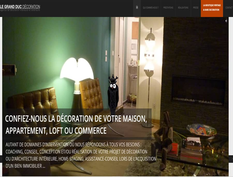 Le grand duc – Décoration